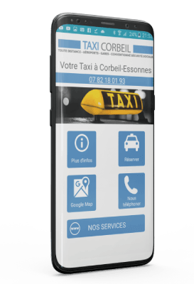 Application Android Taxi Corbeil Essonnes